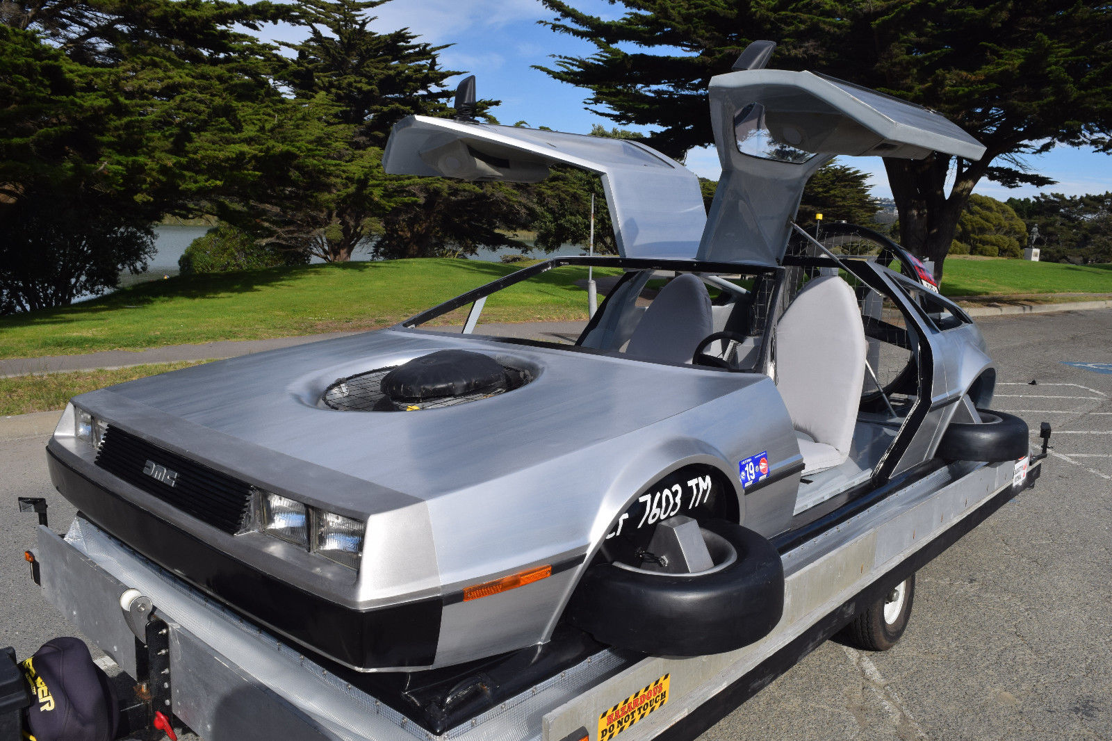 delorean hovercraft front 3/4 doors up