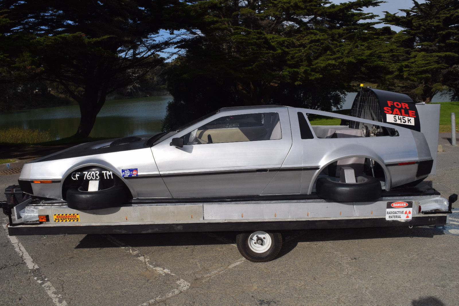 delorean hovercraft side profile
