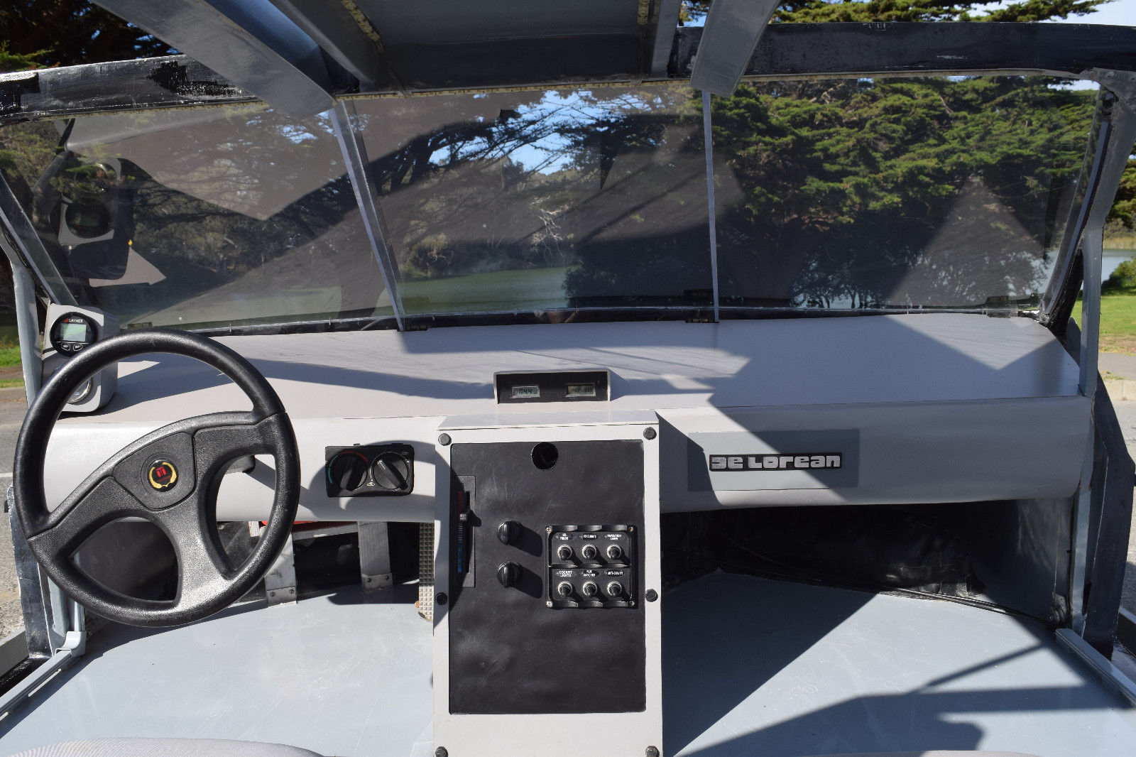 delorean hovercraft inside dash
