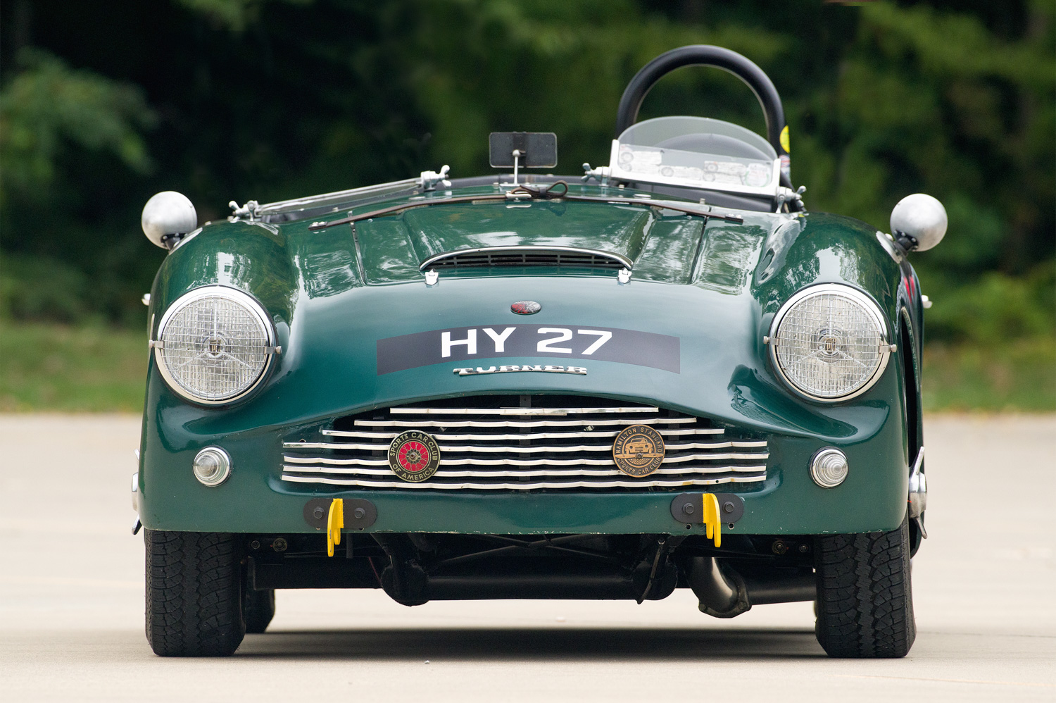 The HY 27 designation on the hood is a UK vehicle registration number. The car was driven in England in the 1970s.