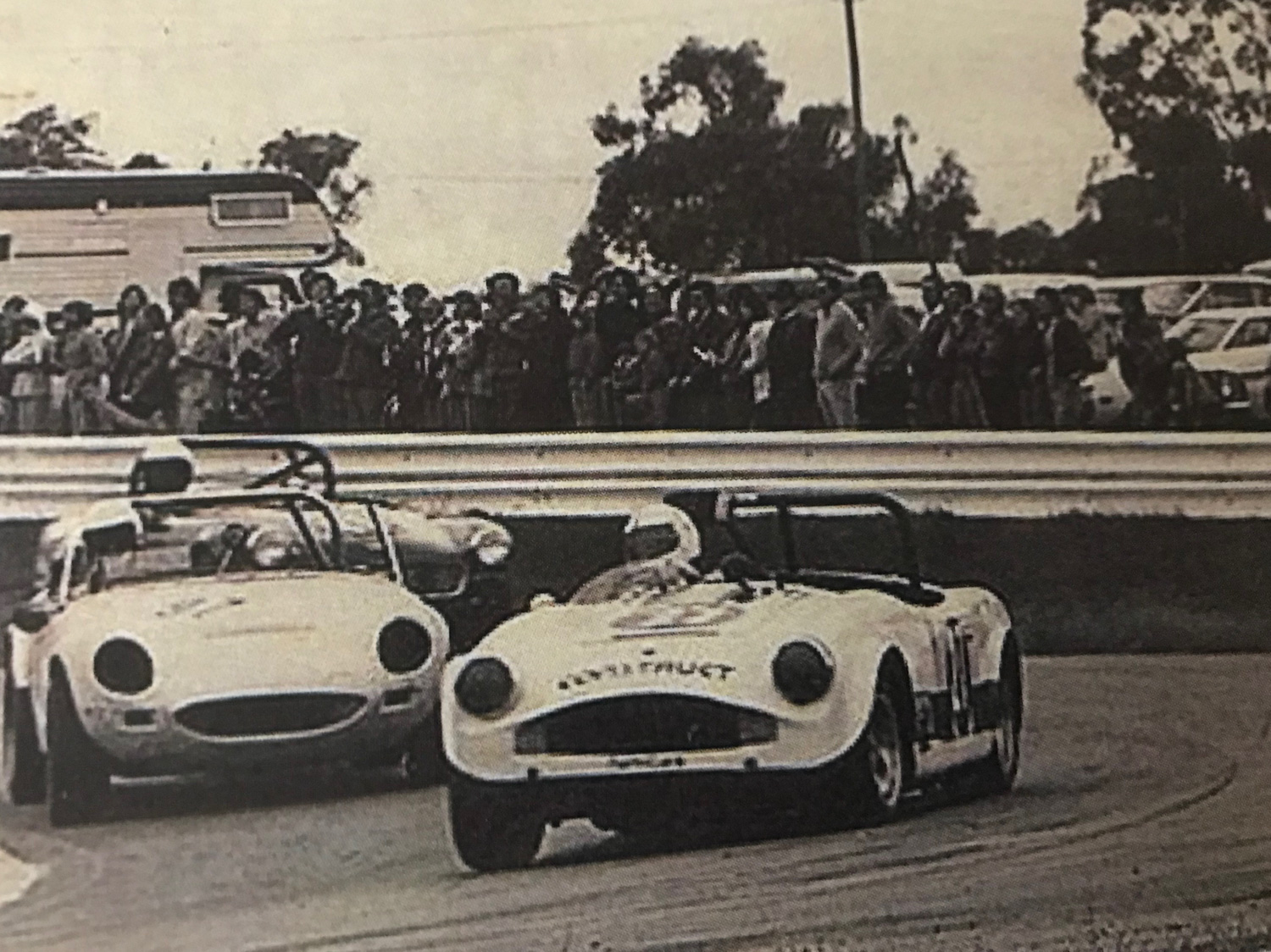 Ted Newsome, a past owner of Ruth's Turner, drives a different Turner in an Australian Road race, probably in the early 1970s.