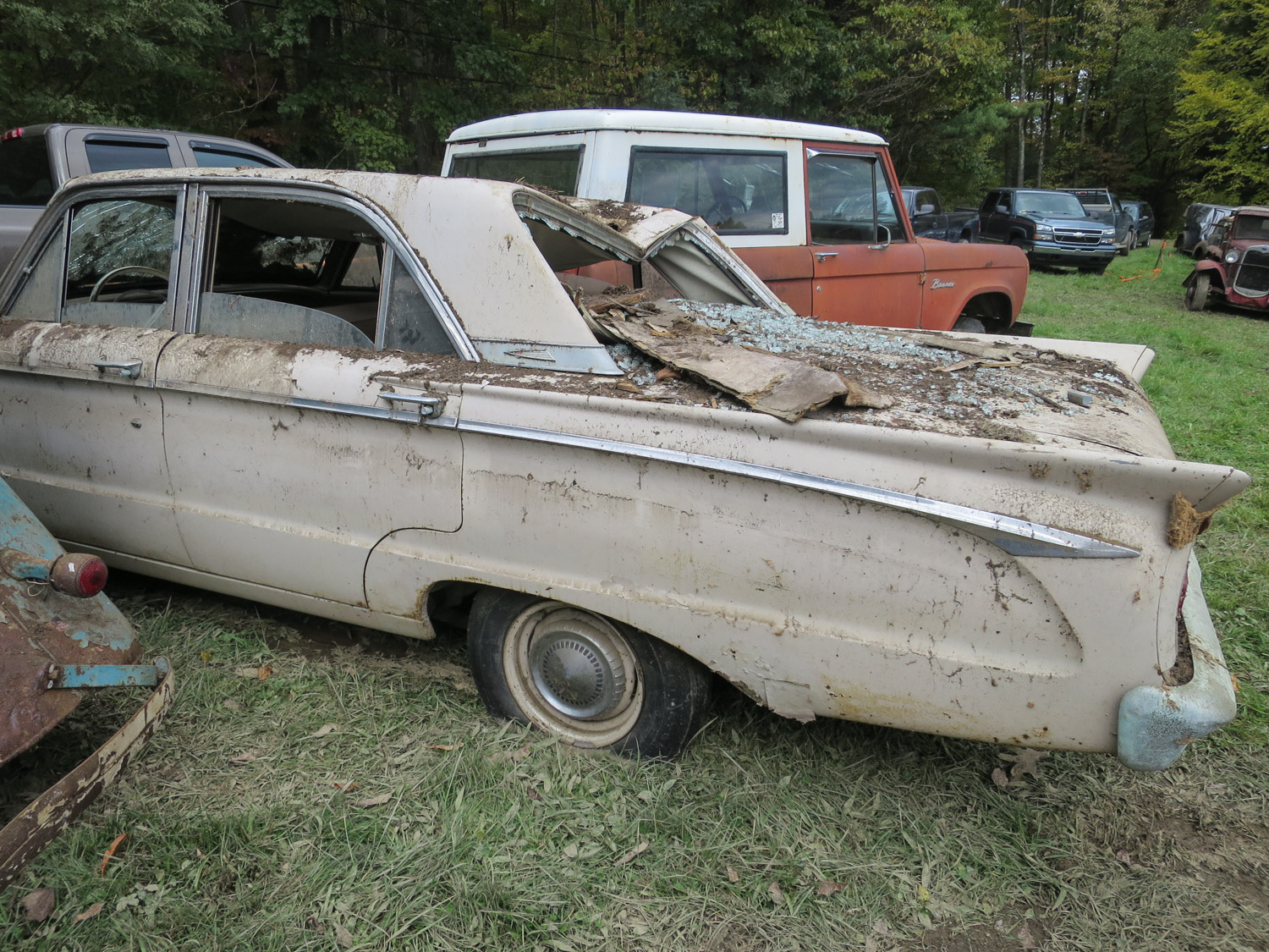 63 mercury comet barn collapse rear