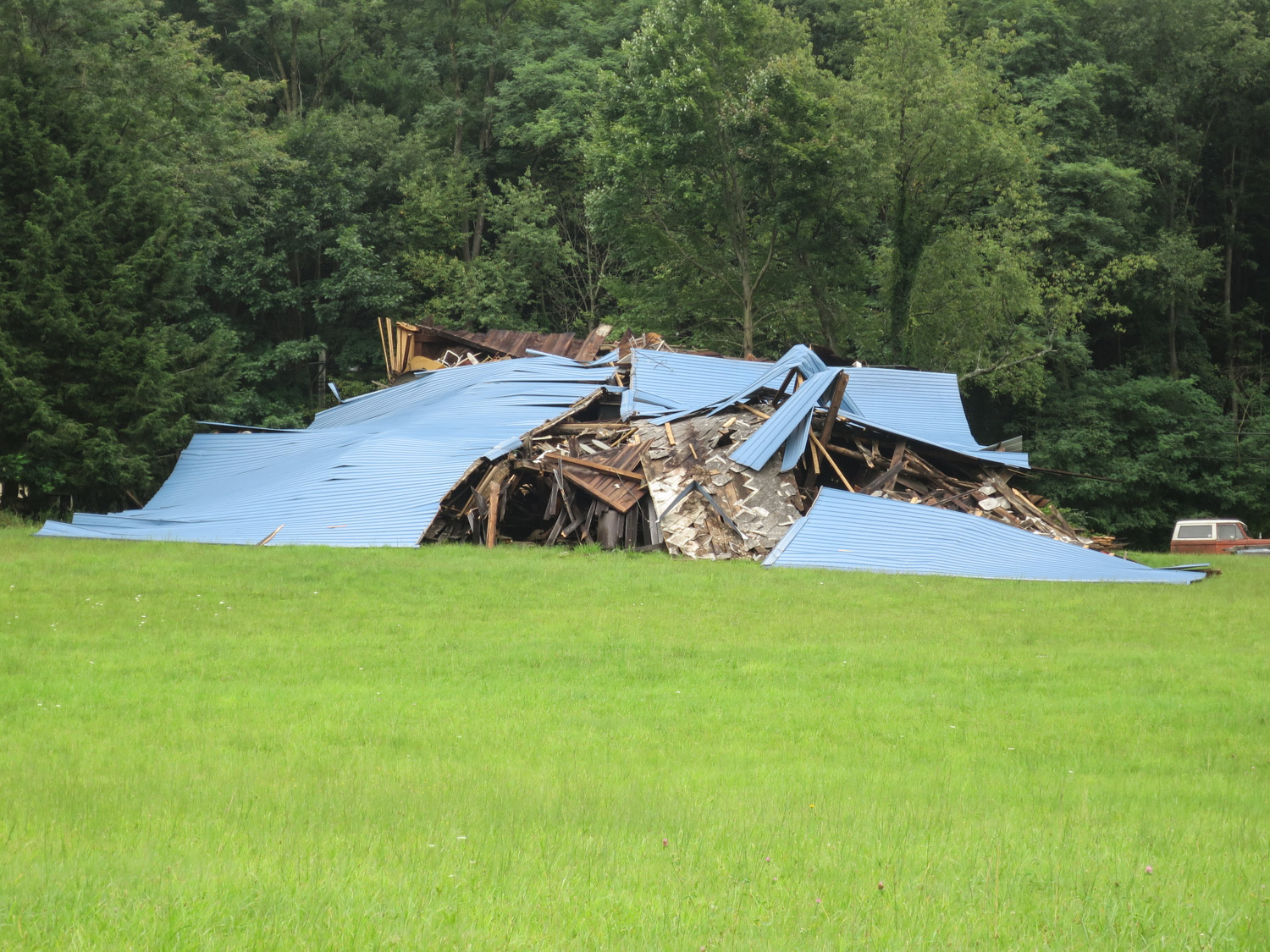 Barn Collapse roof