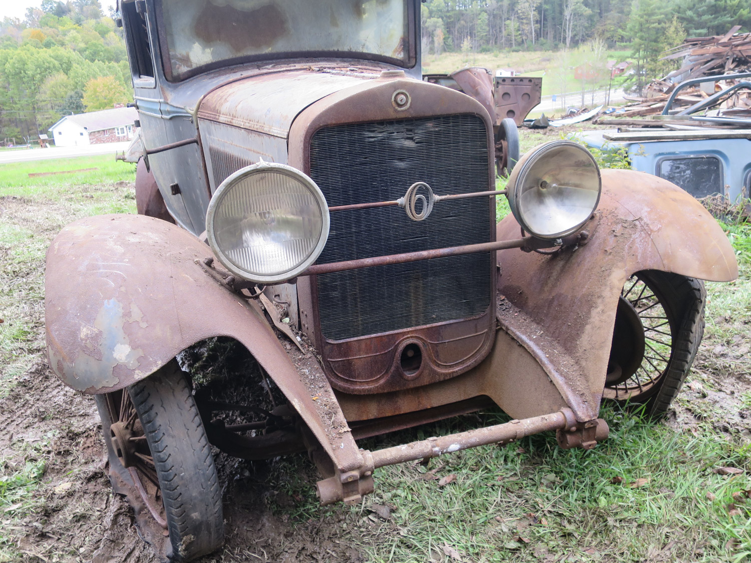 1930 Studebaker president six brougham front barn collapse
