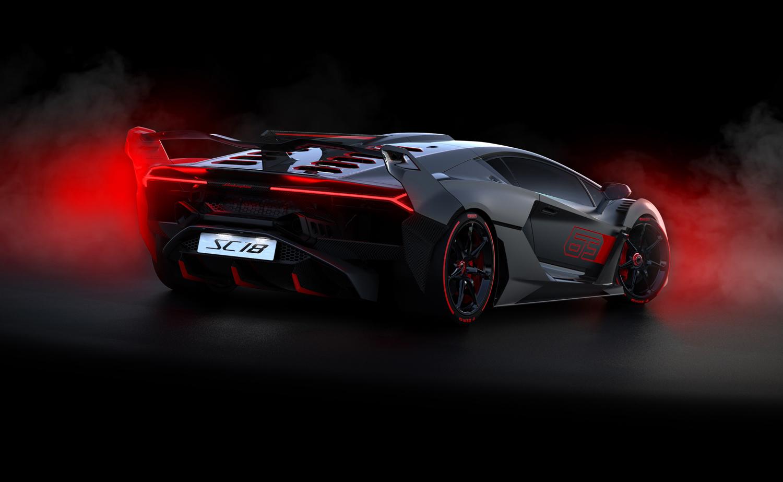 Lamborghini SC18 rear 3/4 fog