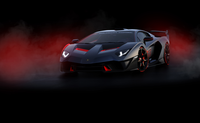 Lamborghini SC18 front 3/4 fog