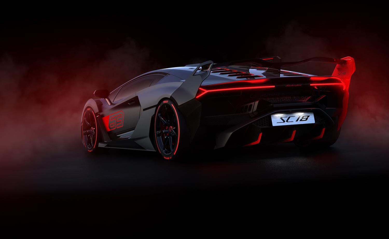 Lamborghini SC18 3/4 rear fog driver