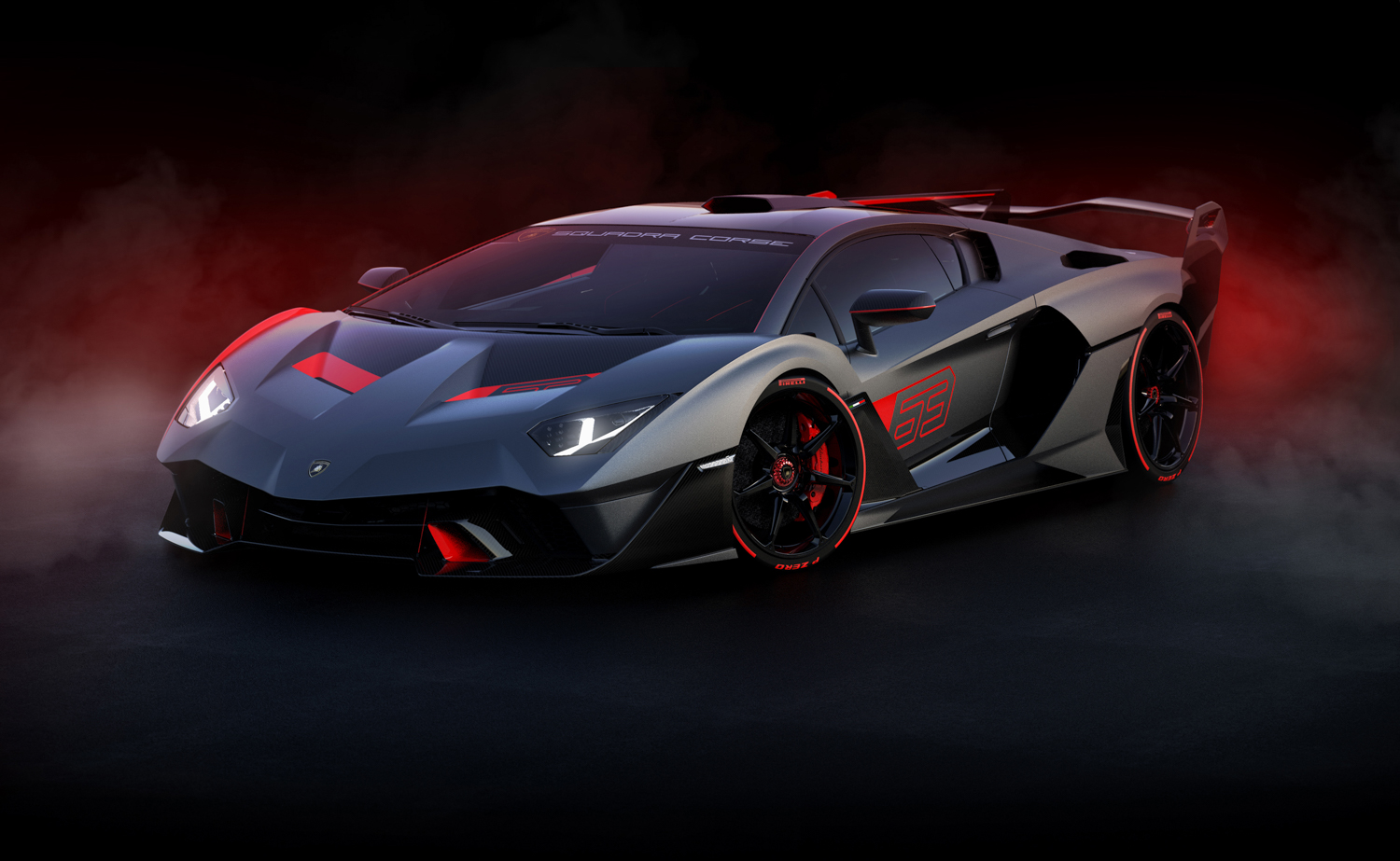 Lamborghini SC18 front 3/4 close fog