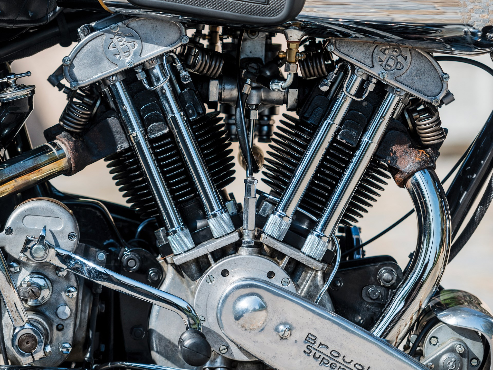 1936 Brough Superior SS100 engine