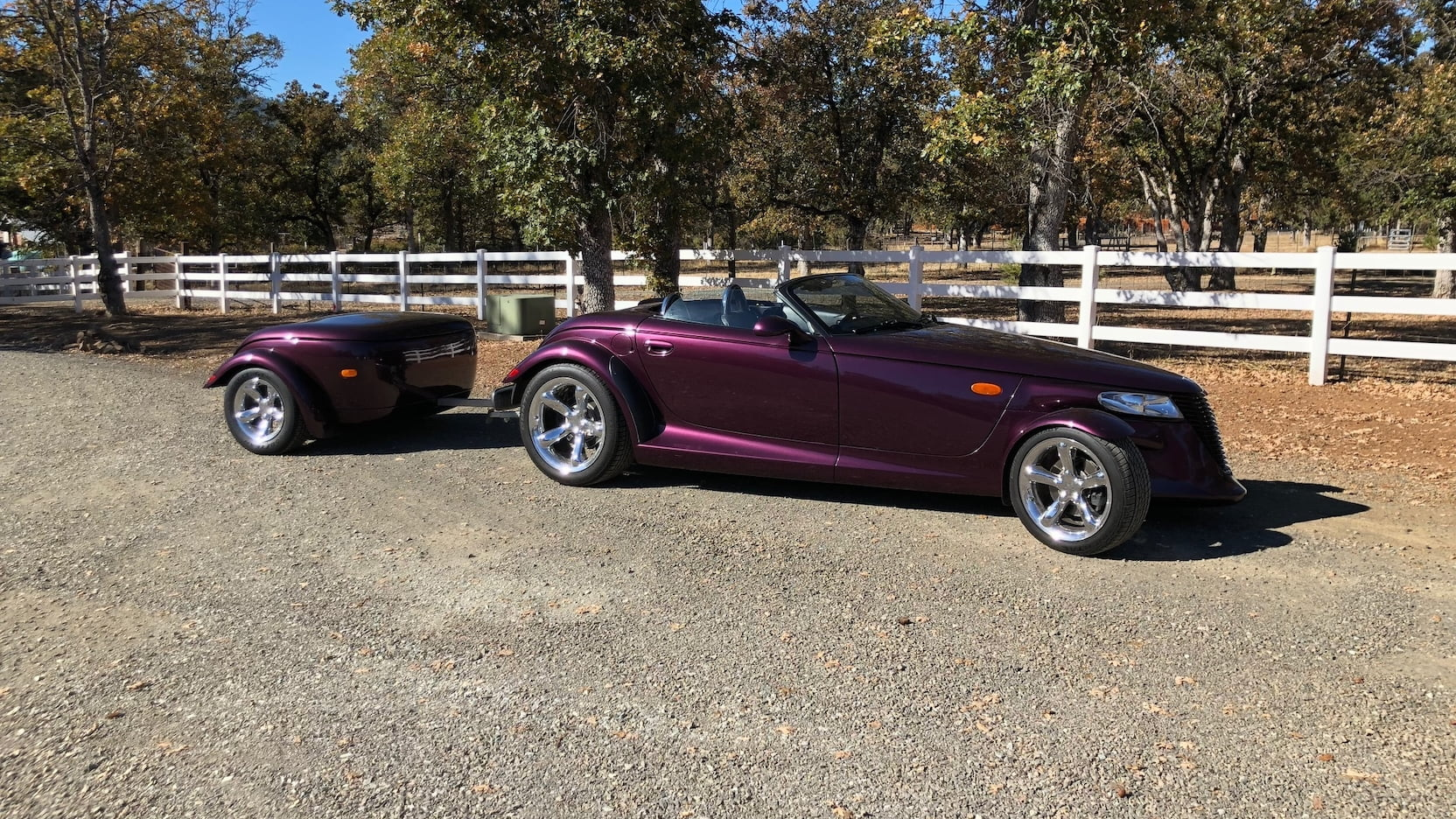 1999 Plymouth Prowler passenger side with trailer