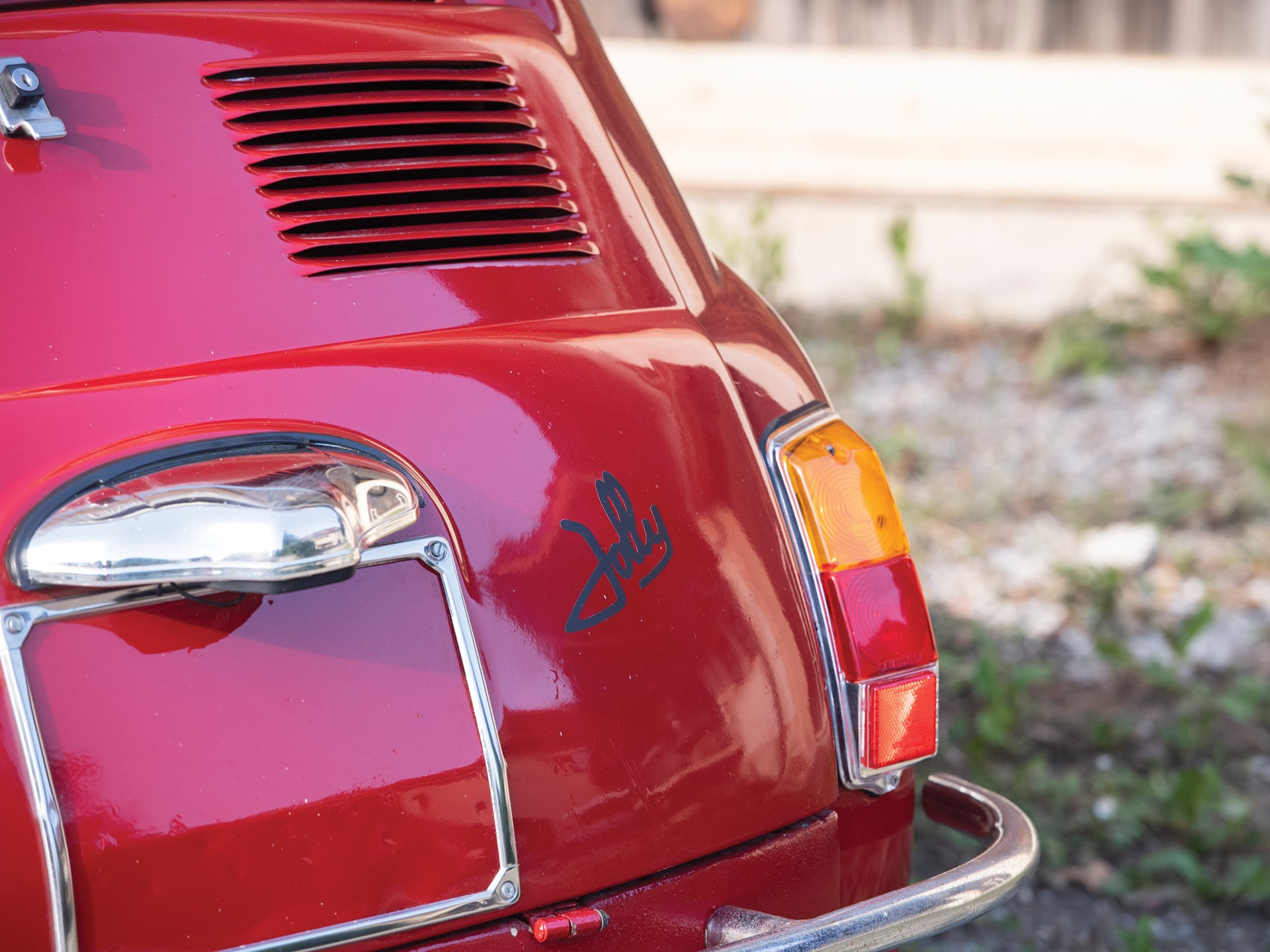 1968 Fiat Jolly rear badge