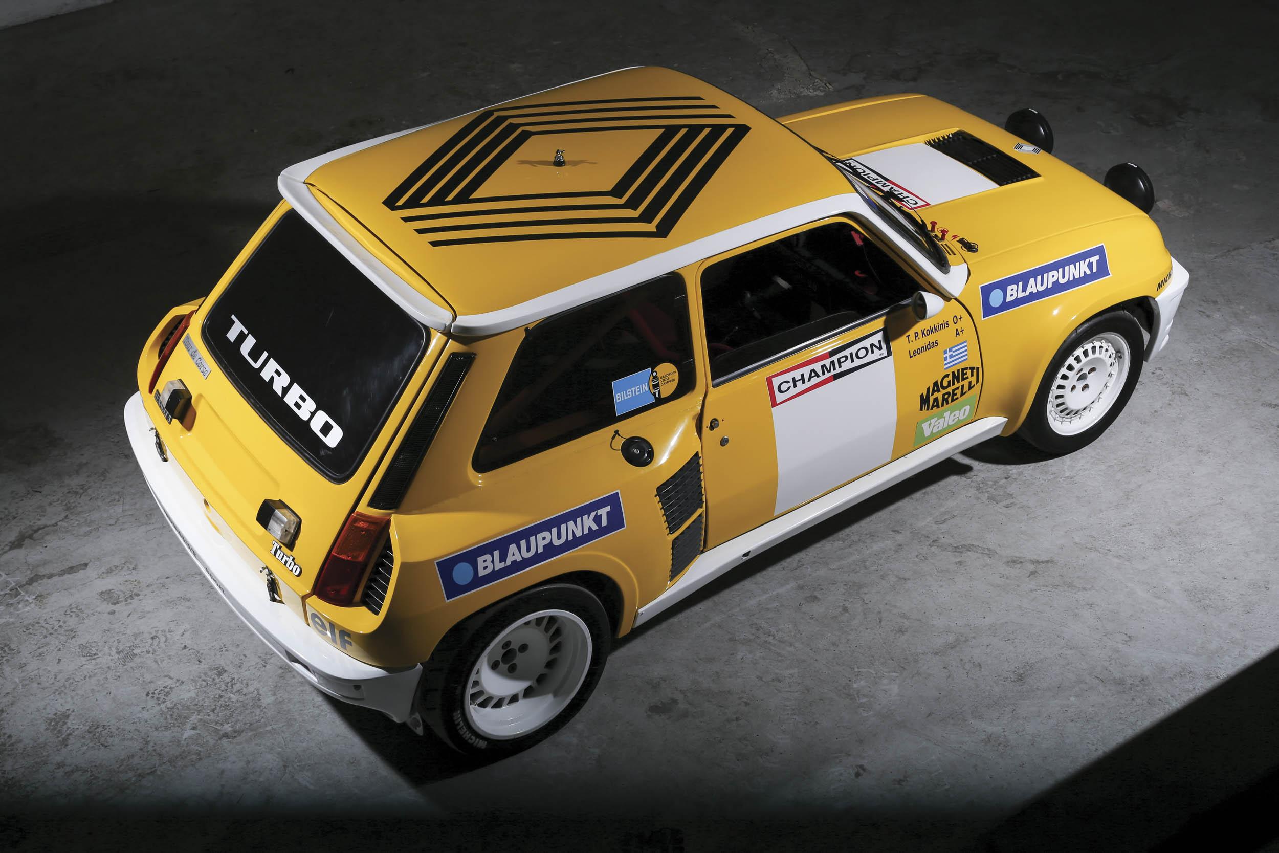 1980 Renault 5 Turbo overhead