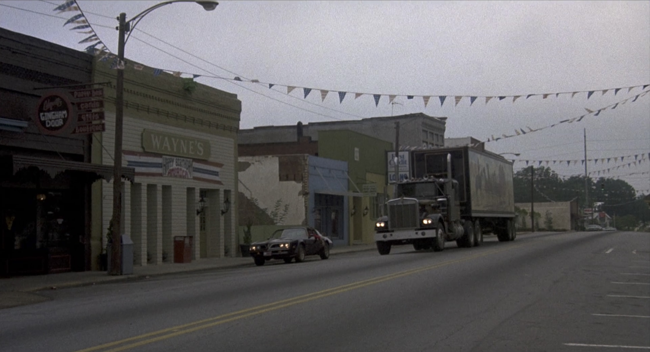 Smokey and the bandit trans am and semi in town