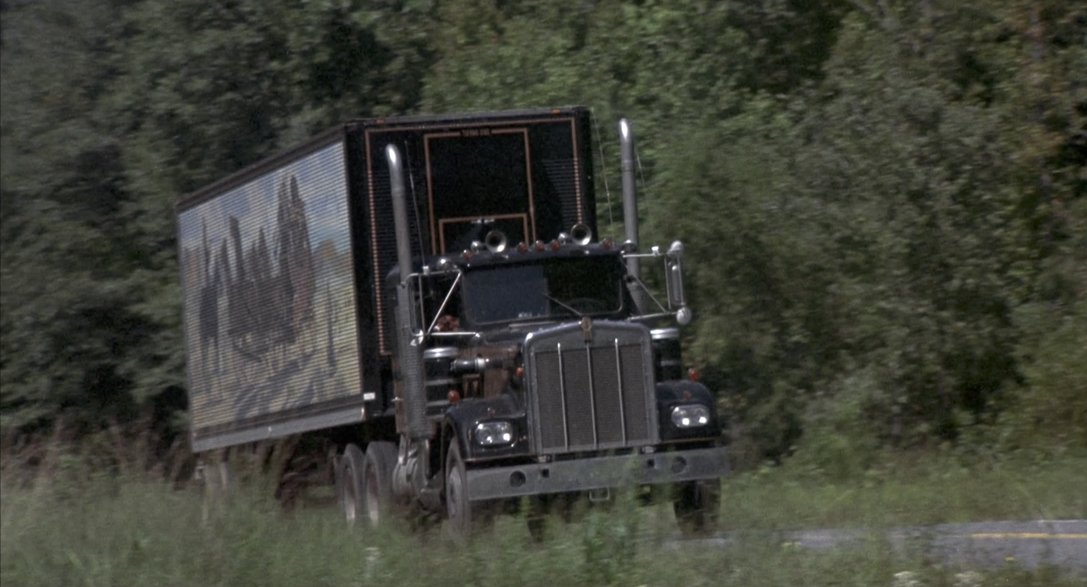 Smokey and the bandit semi truck on road