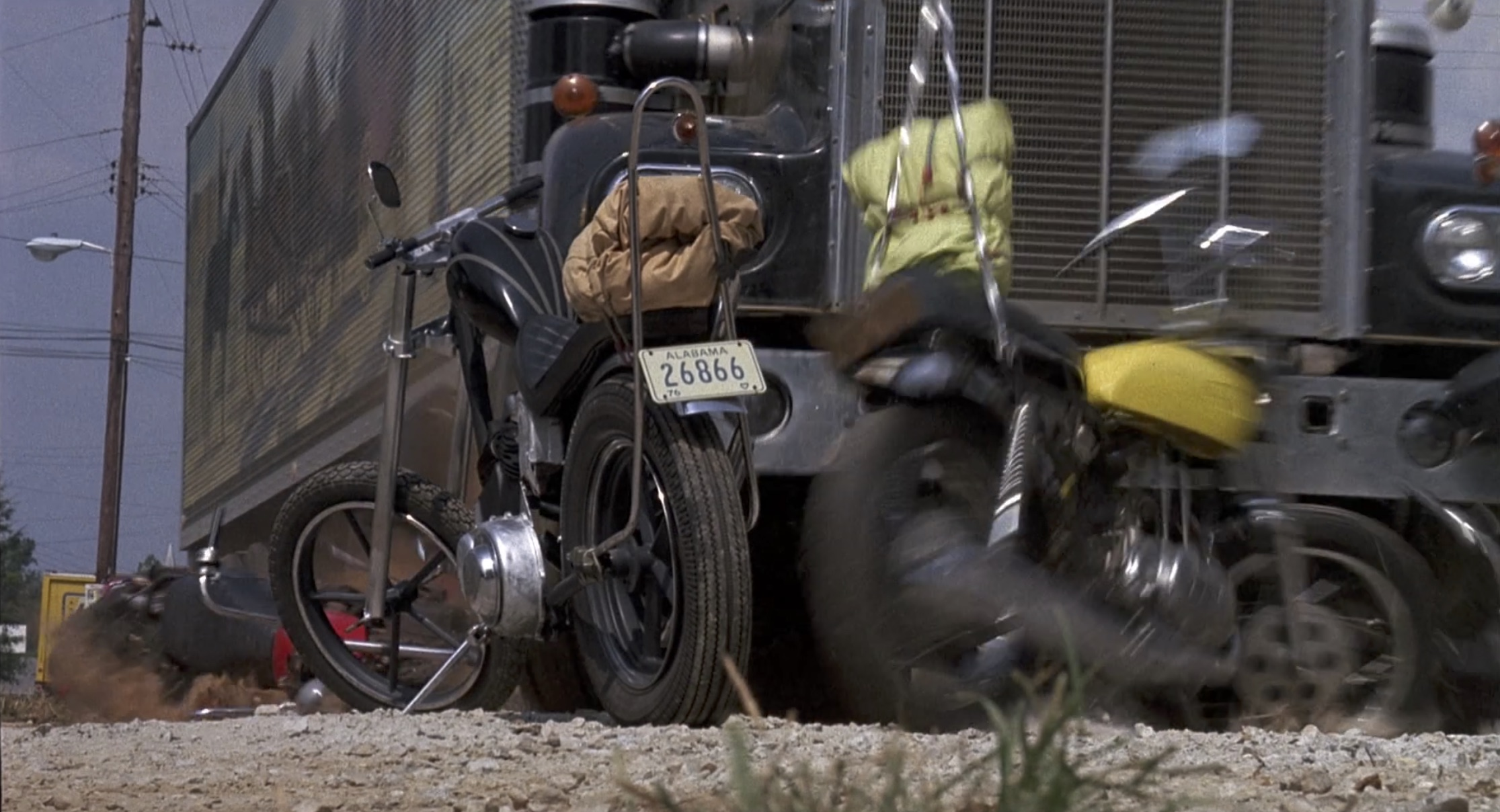 Smokey and the bandit semi hits bikes
