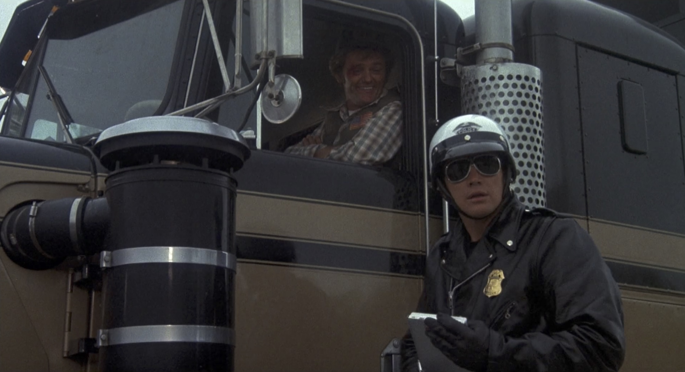 Smokey and the bandit cop and snowman