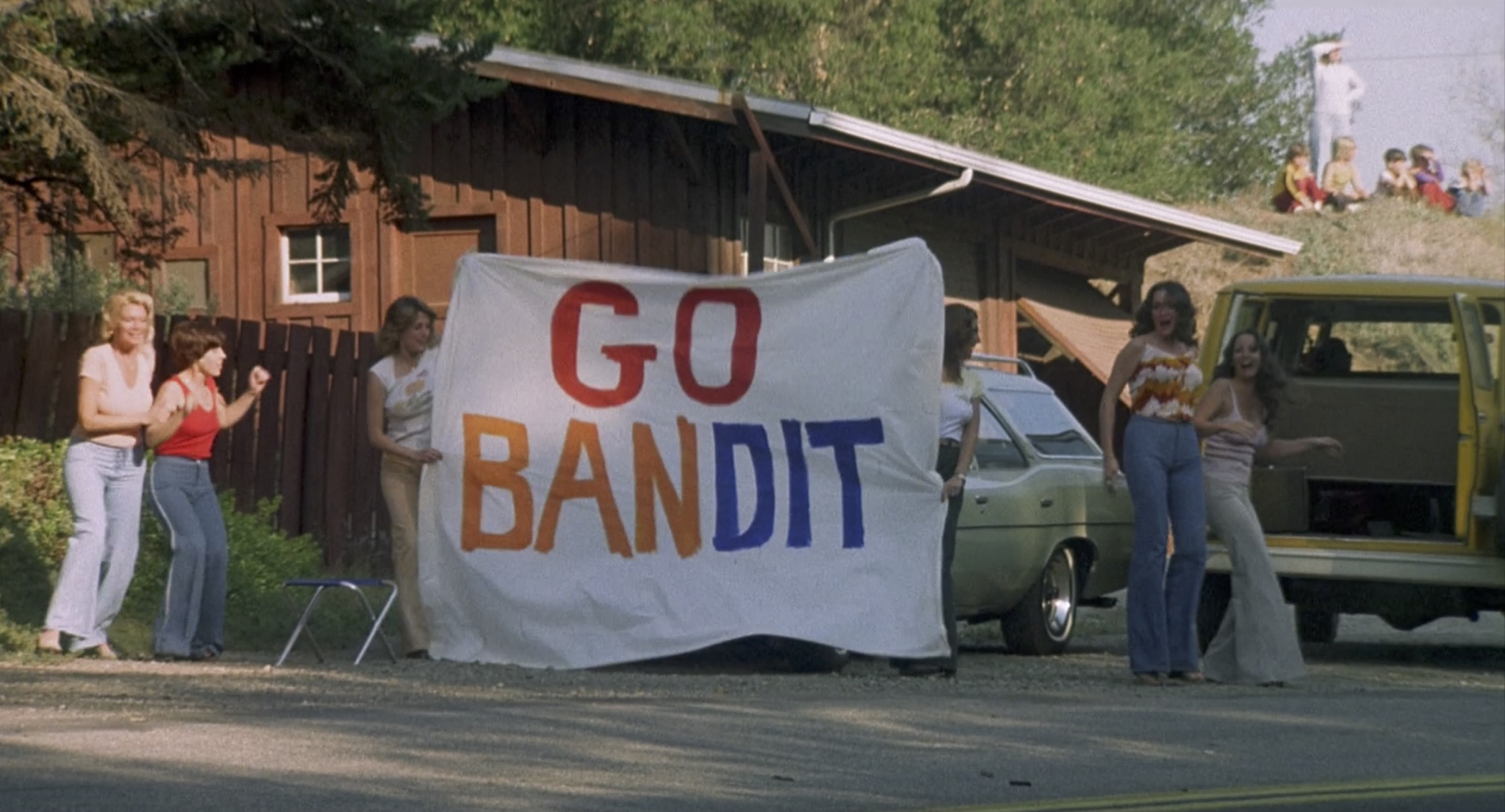 Smokey and the bandit go bandit sign