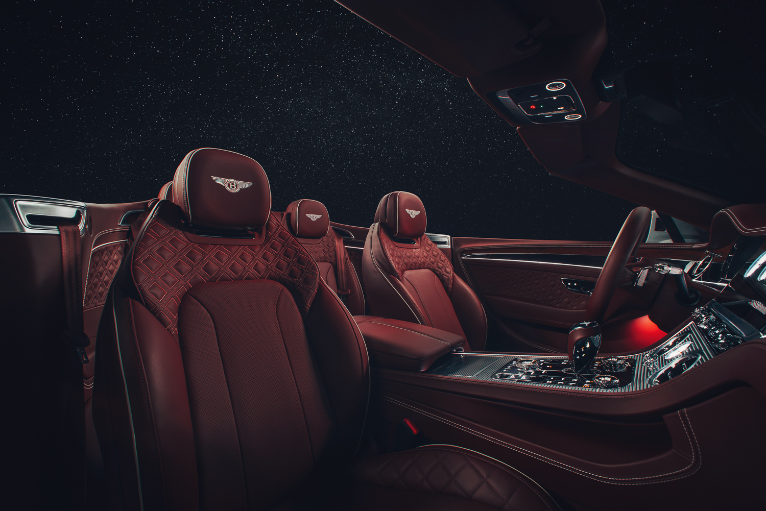 2019 Bentley Continental GT Convertible stary night seats