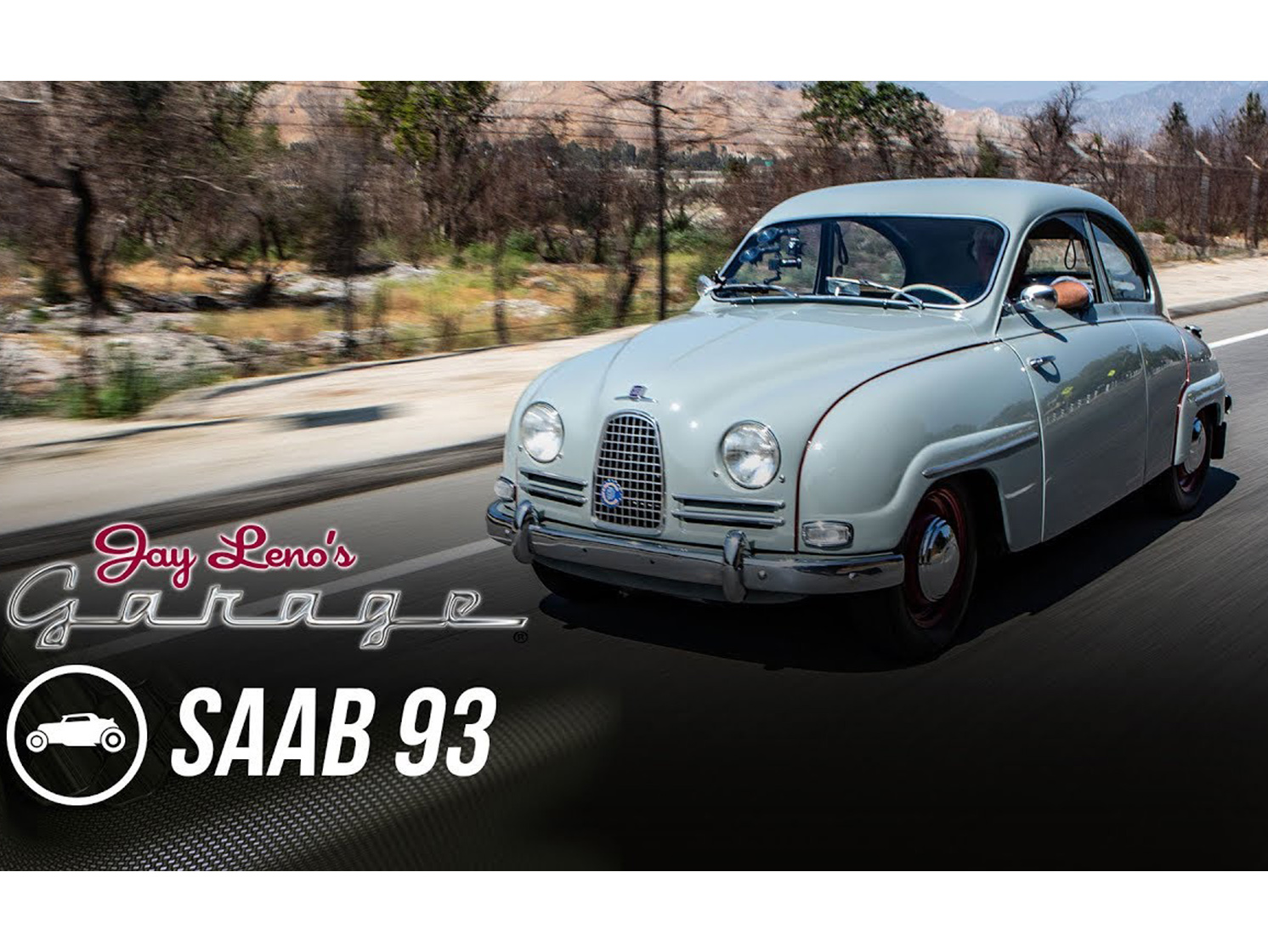 Jay Leno's 1958 Saab 93B sounds like an angry hive of Swedish bees thumbnail