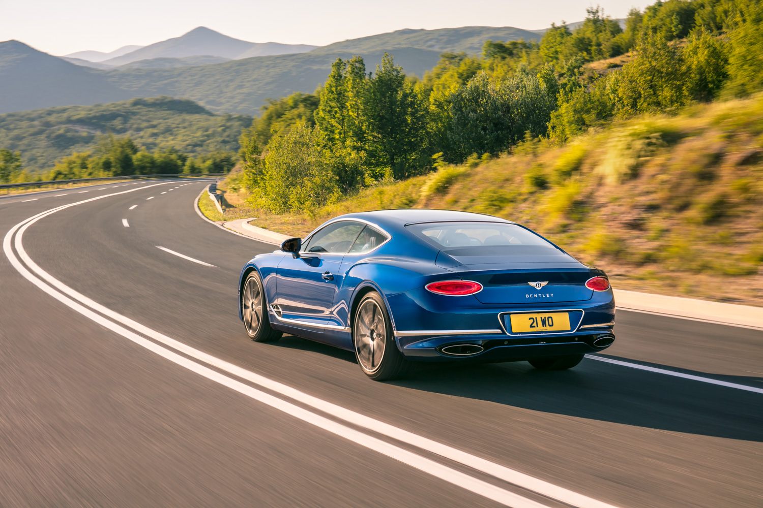 2019 Bentley Continental GT rear 3/4 driving