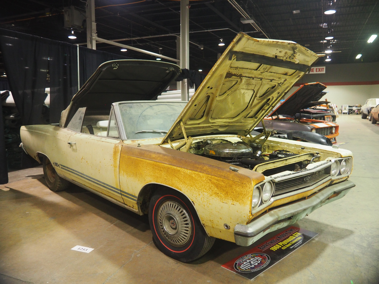 1968 Plymouth Hemi GTX Convertible barn find