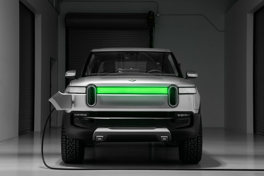 Rivian R1T Concept charging station