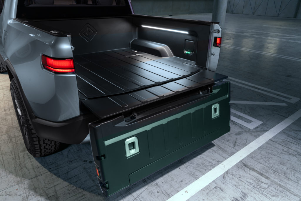 Rivian R1T Concept bed tailgate