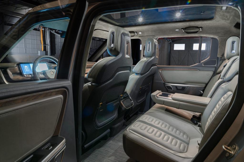 Rivian R1T Concept rear interior seats