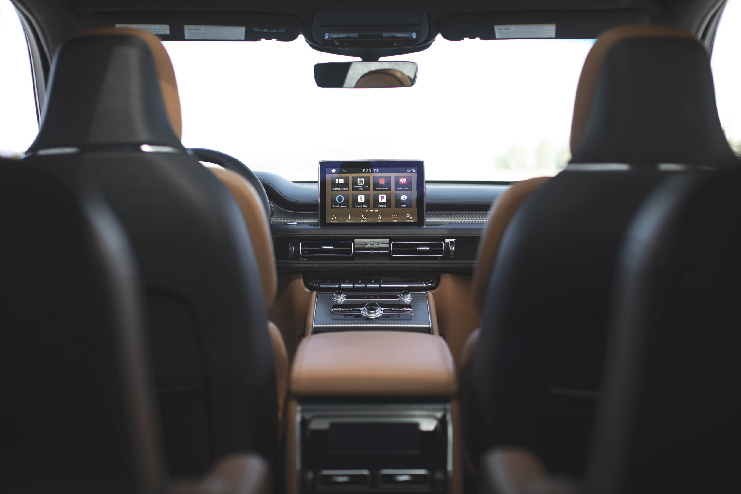 2020 Lincoln Aviator view from back seat