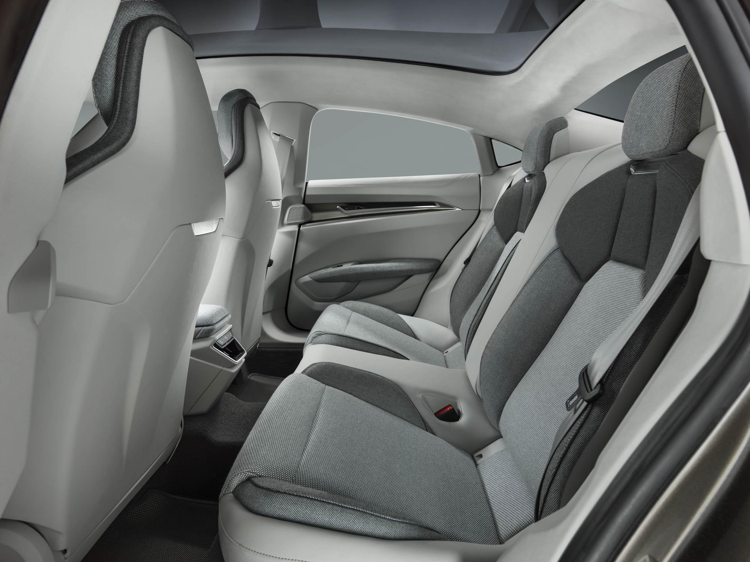 Audi e-tron GT backseat interior