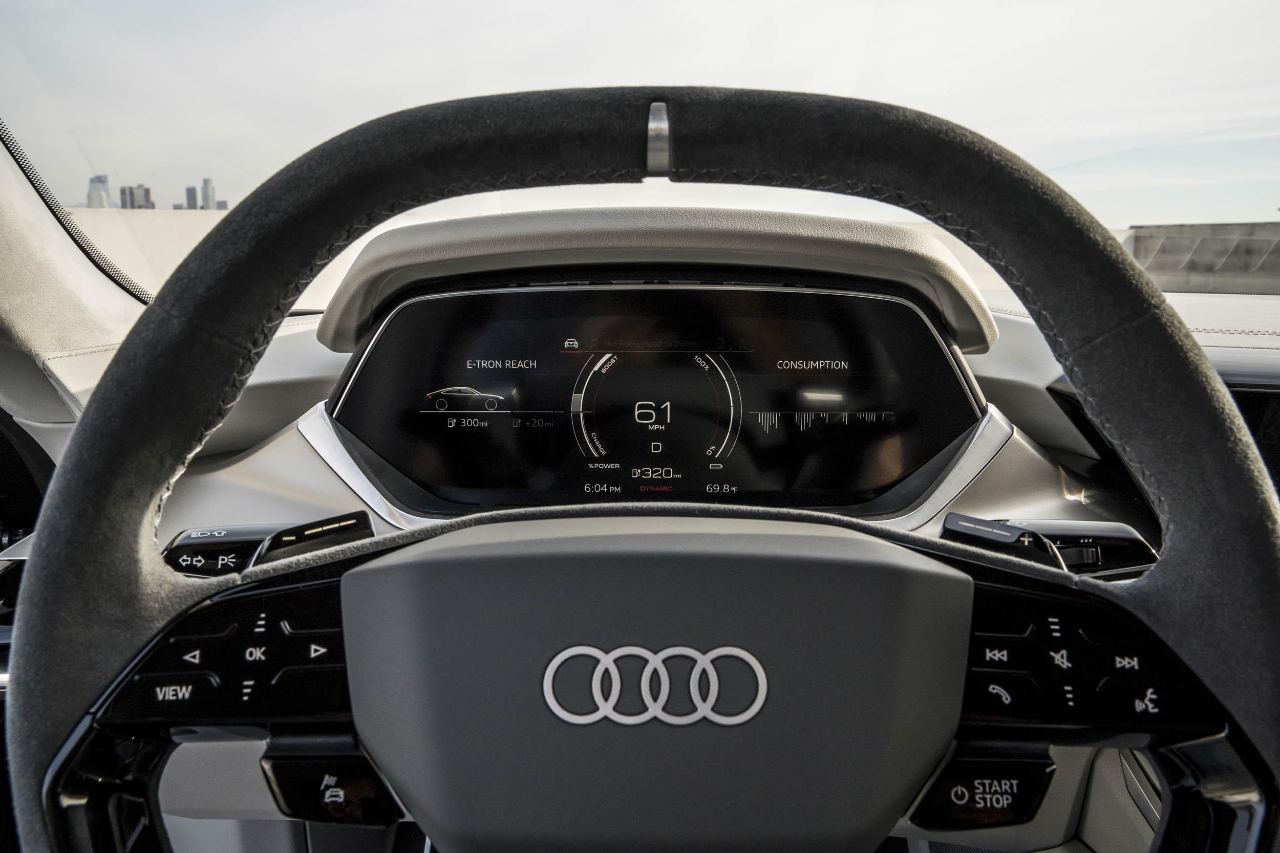 Audi e-tron GT steering wheel
