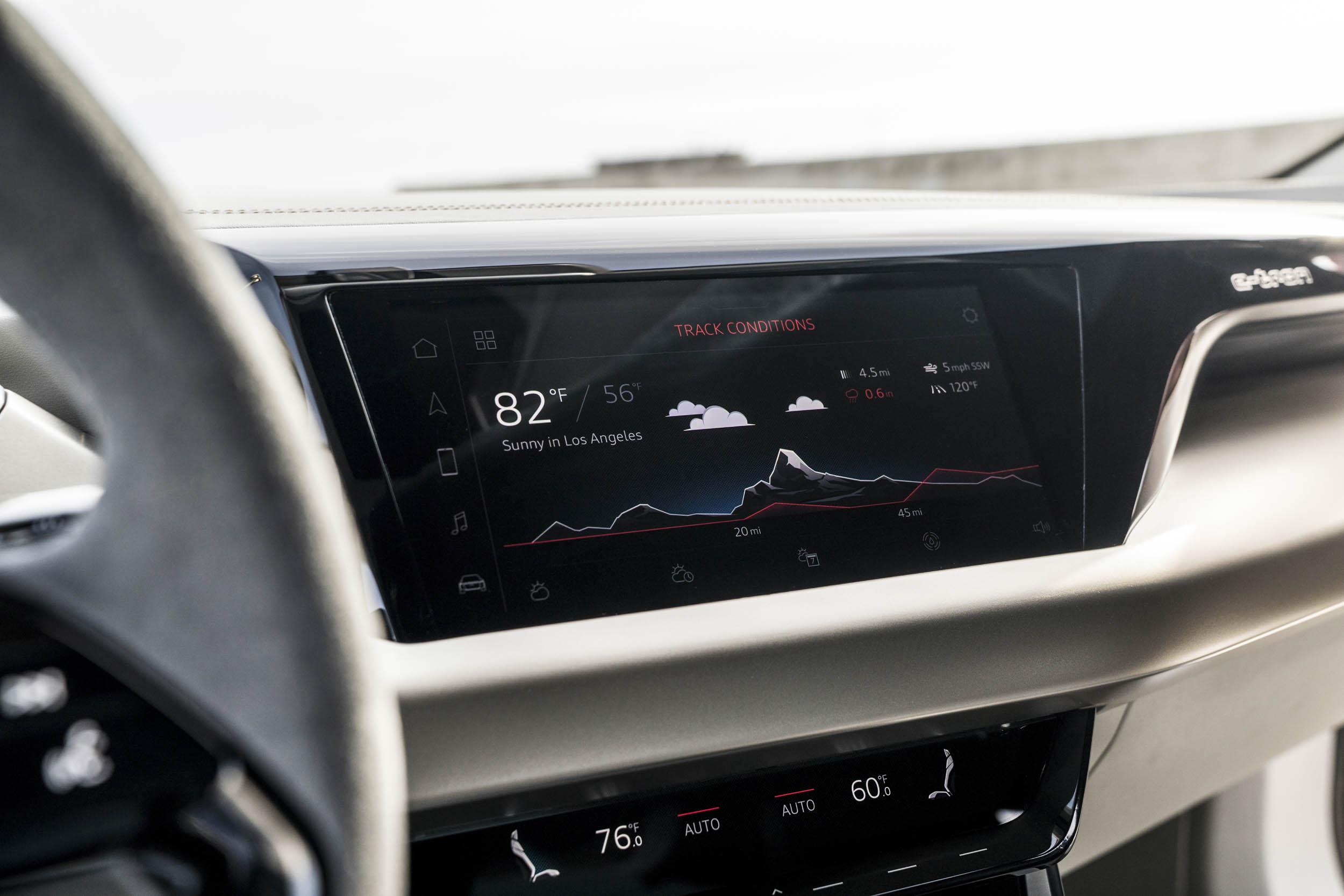 Audi e-tron GT center console
