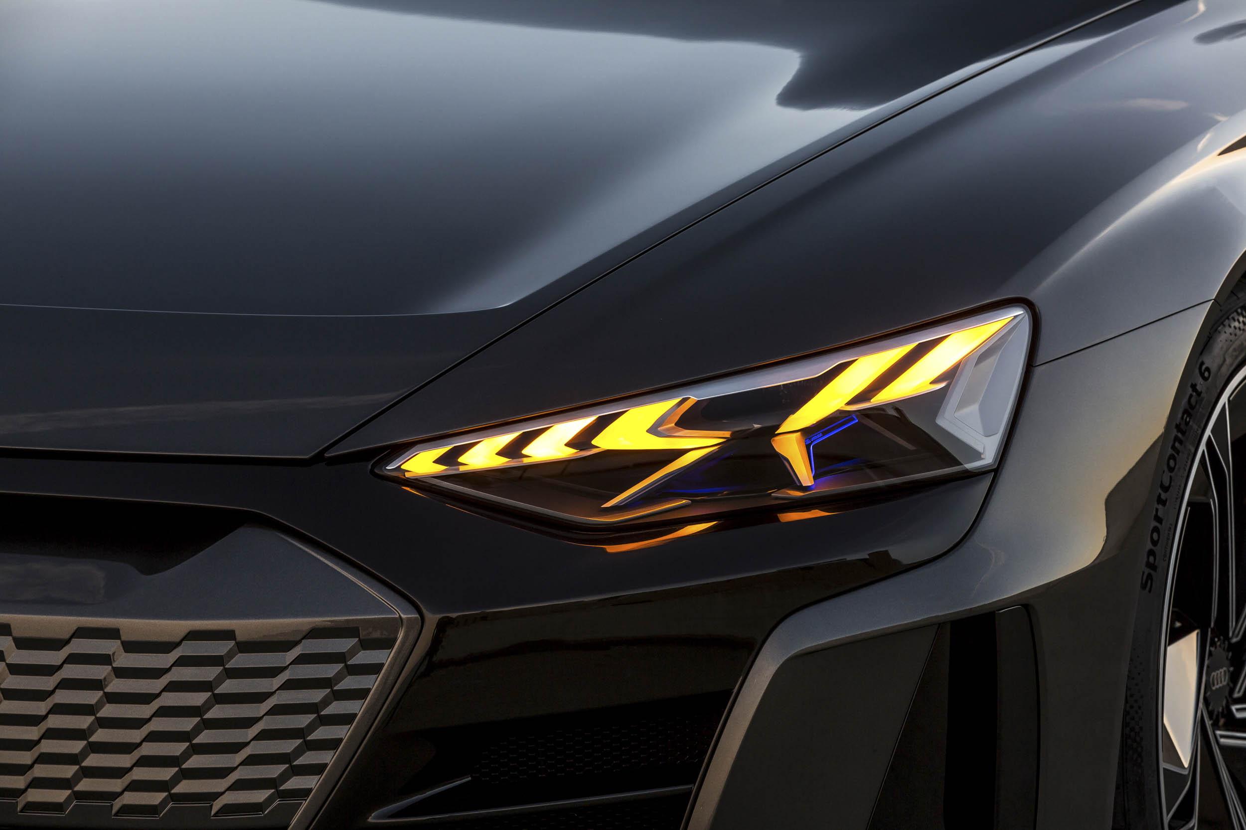 Audi e-tron GT headlight detail