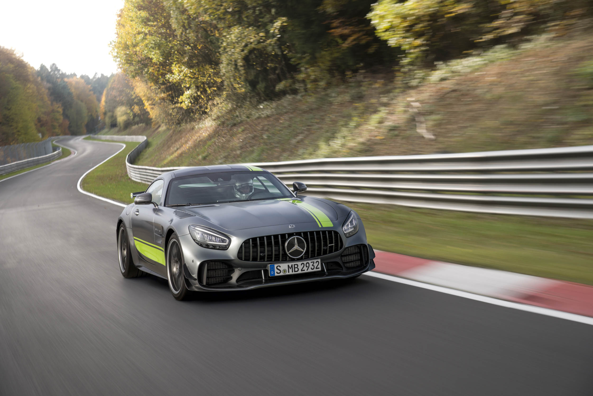 Mercedes-AMG GT R Pro on the track