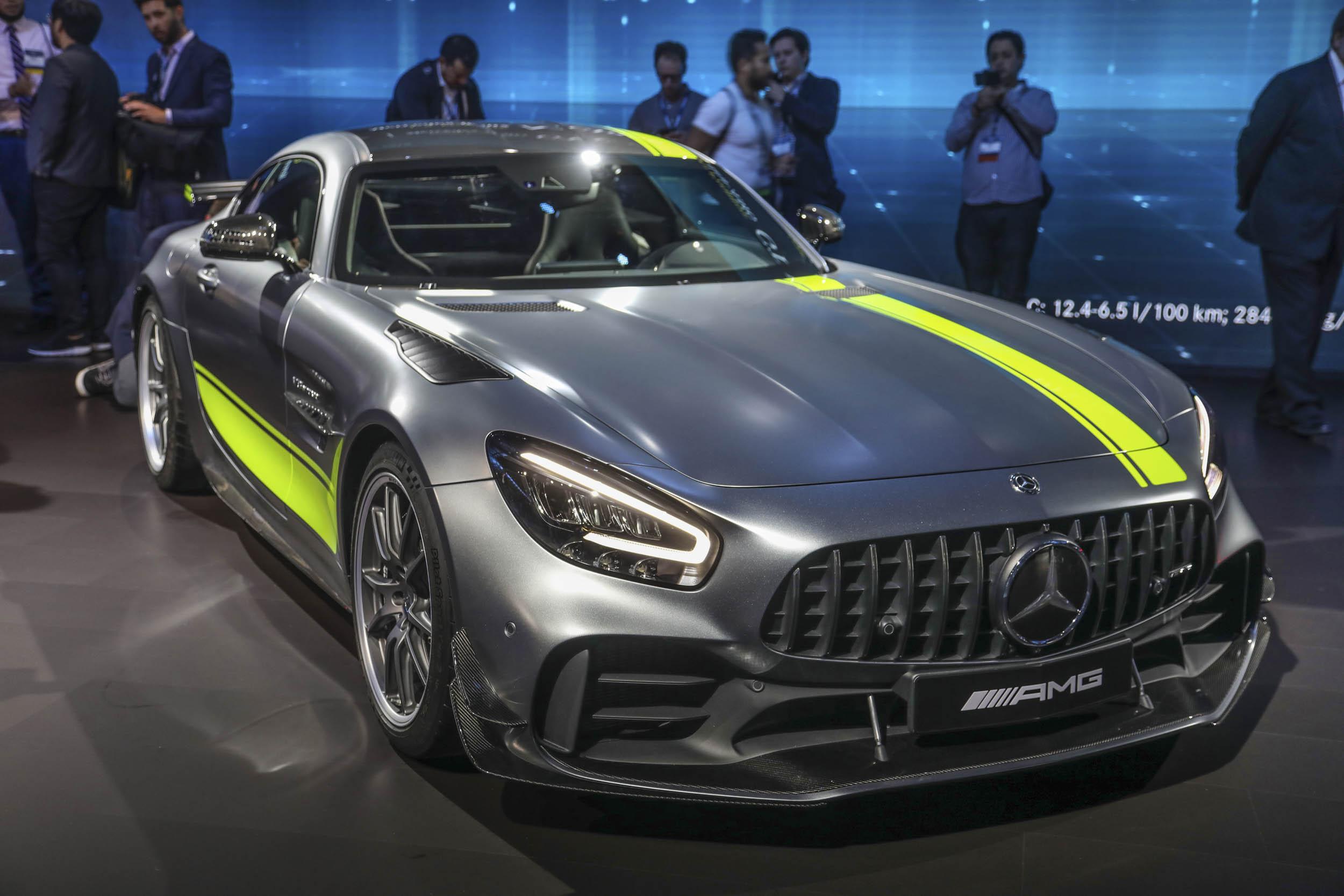 Mercedes-AMG GT R Pro front 3/4 at LA Auto Show