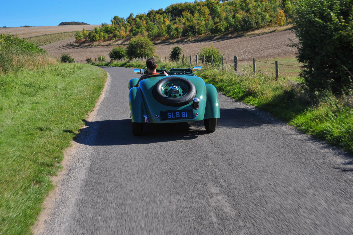 BMW 328 rear on road