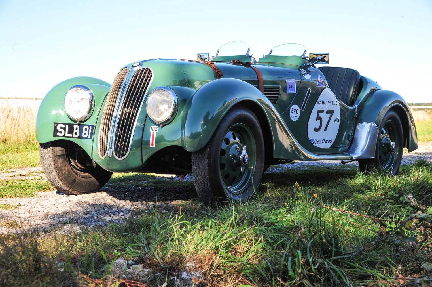 BMW 328 3/4 front parked