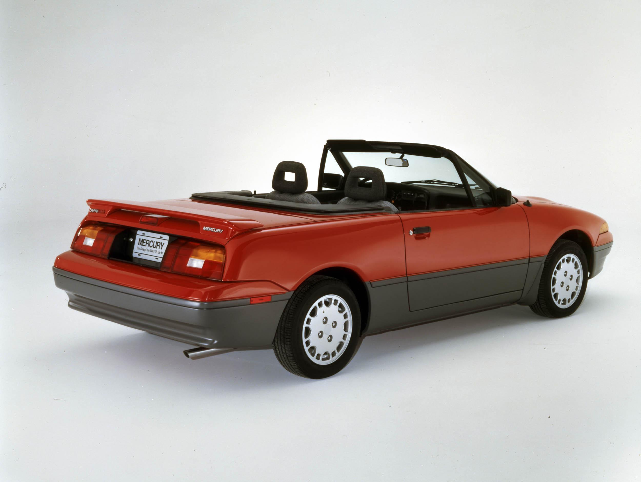 1991 Mercury Capri rear 3/4