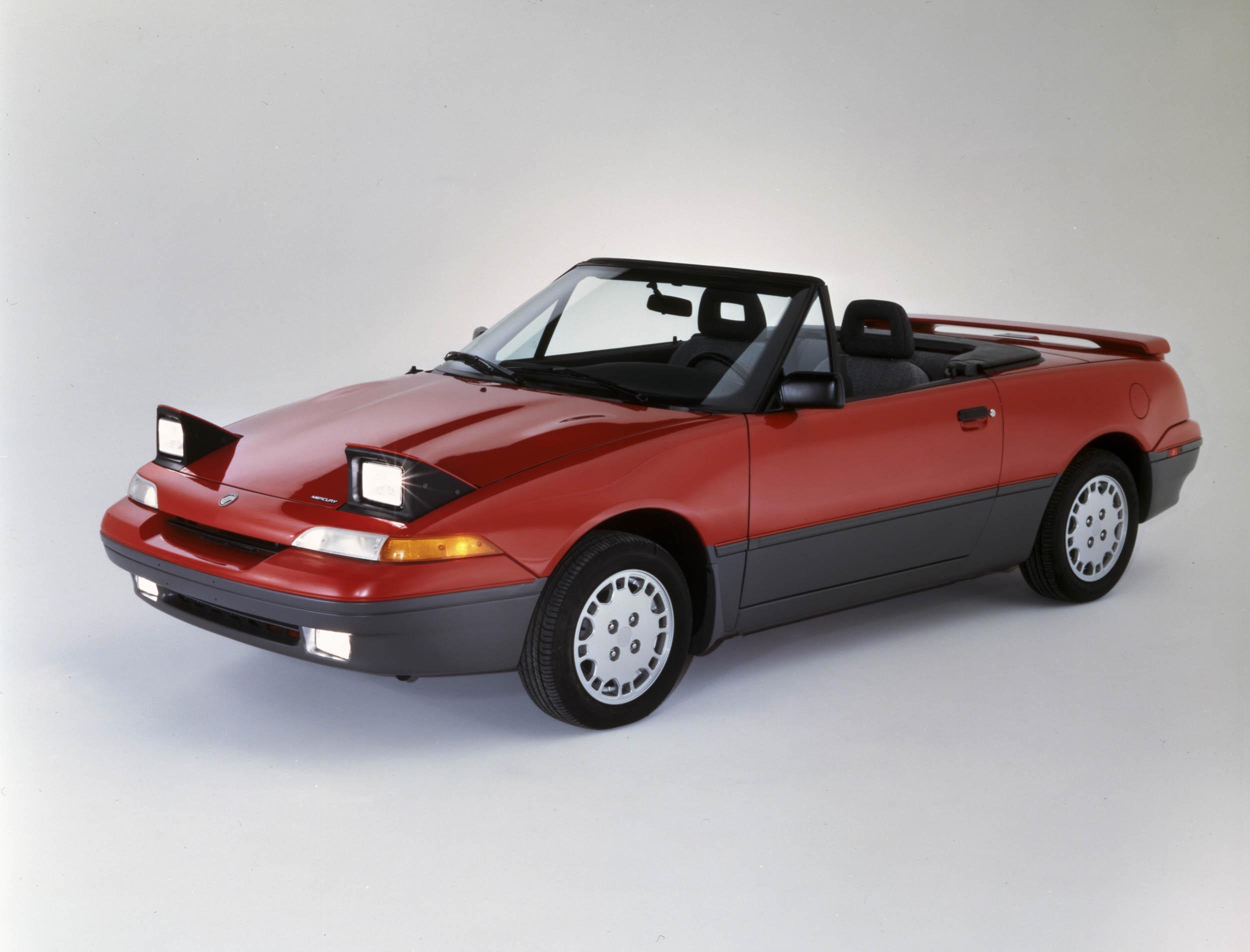 1991 Mercury Capri front 3/4