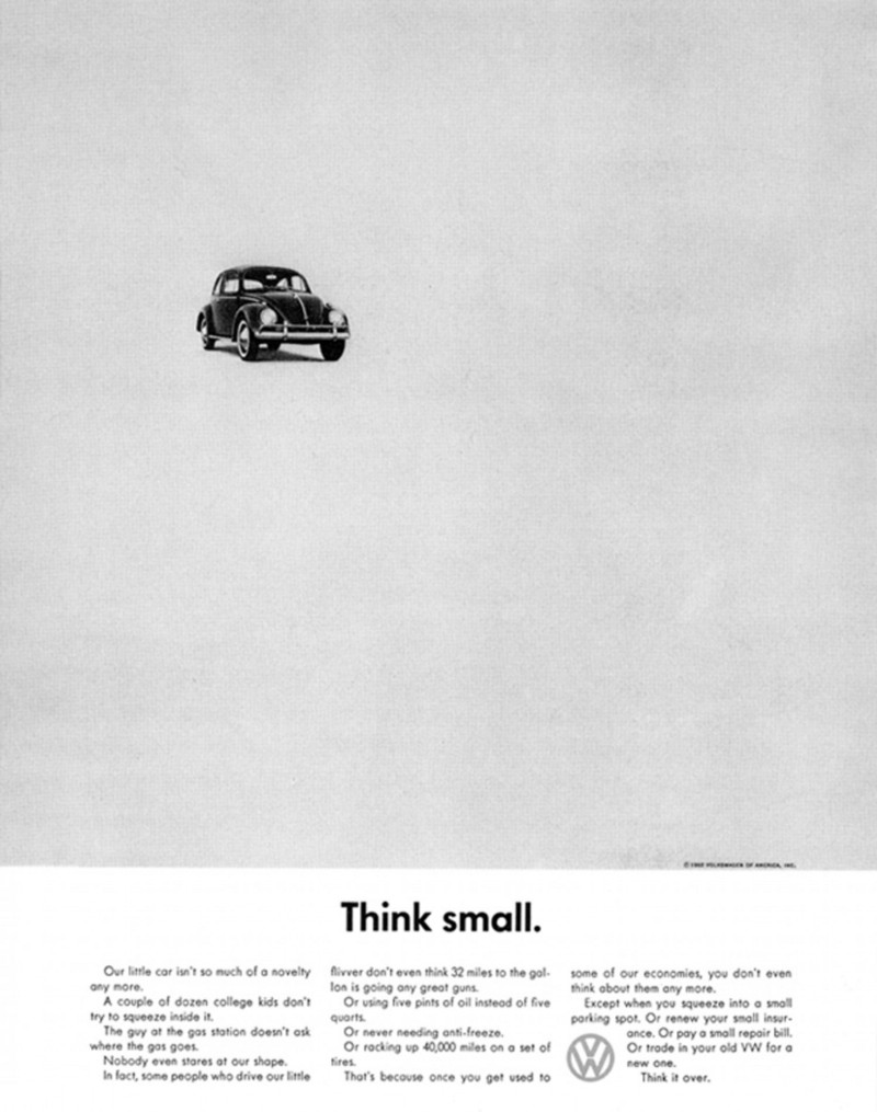 Volkswagen Beetle Think Small ad