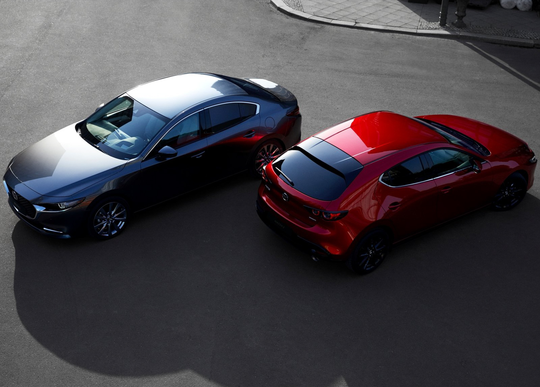 2019 Mazda 3 side by side