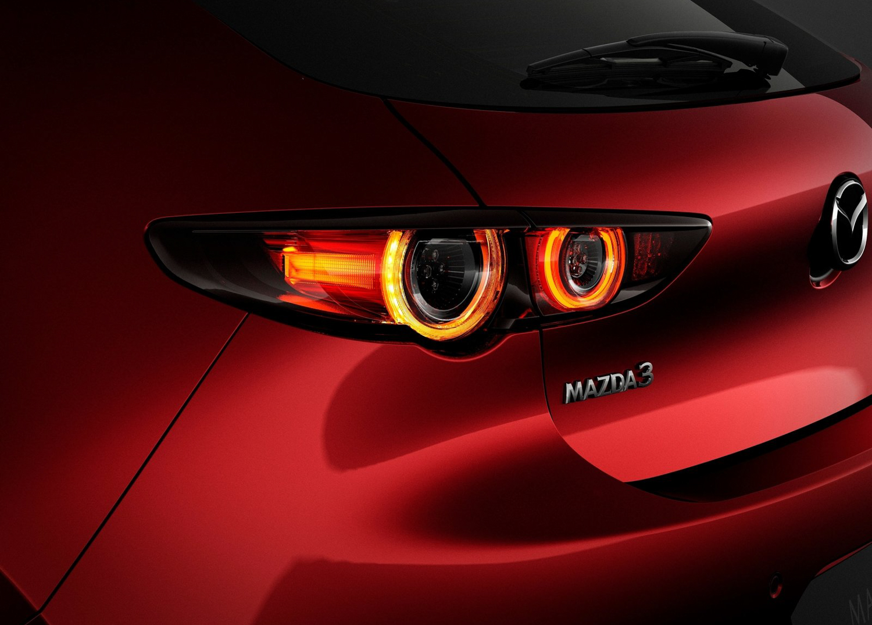 2019 Mazda 3 taillight detail