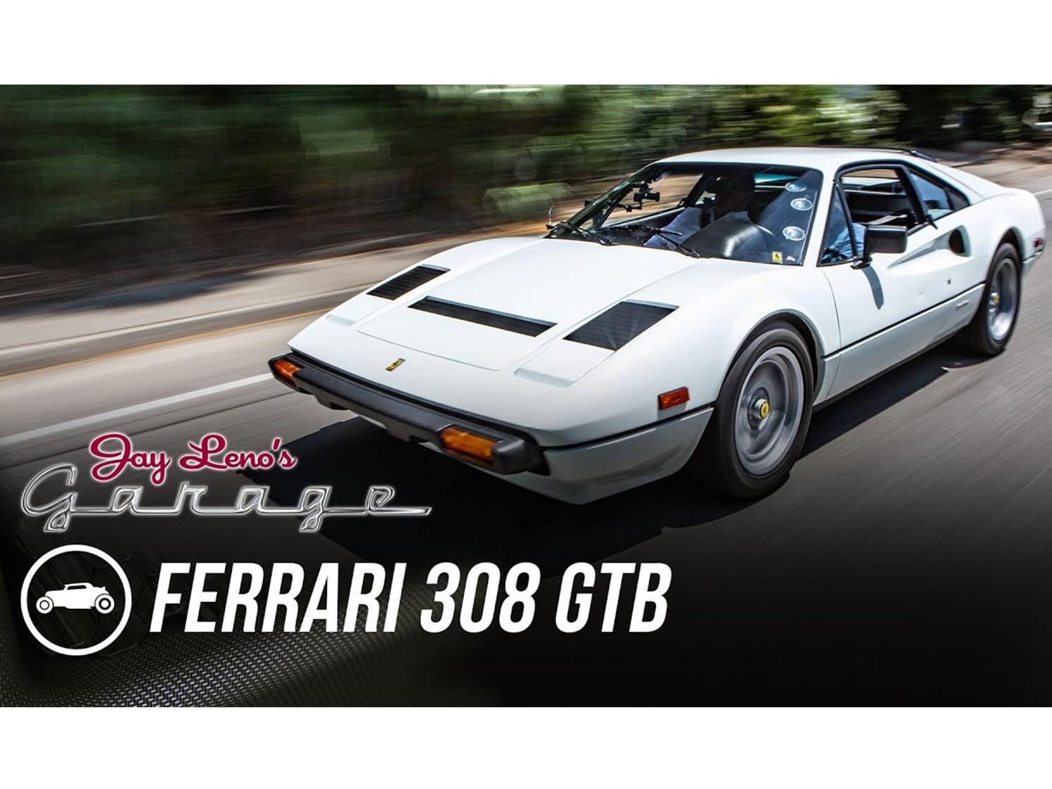Bellisimo: Jay Leno behind the wheel of a Ferrari 308 thumbnail