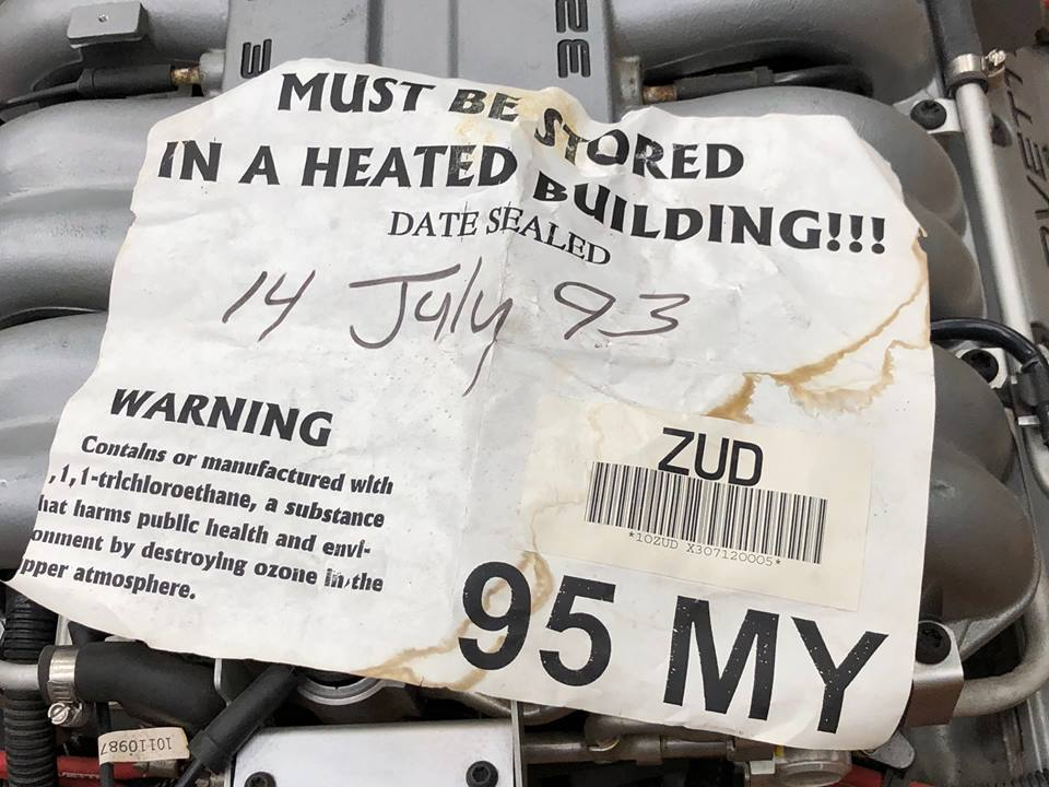 LT-5 engine tag