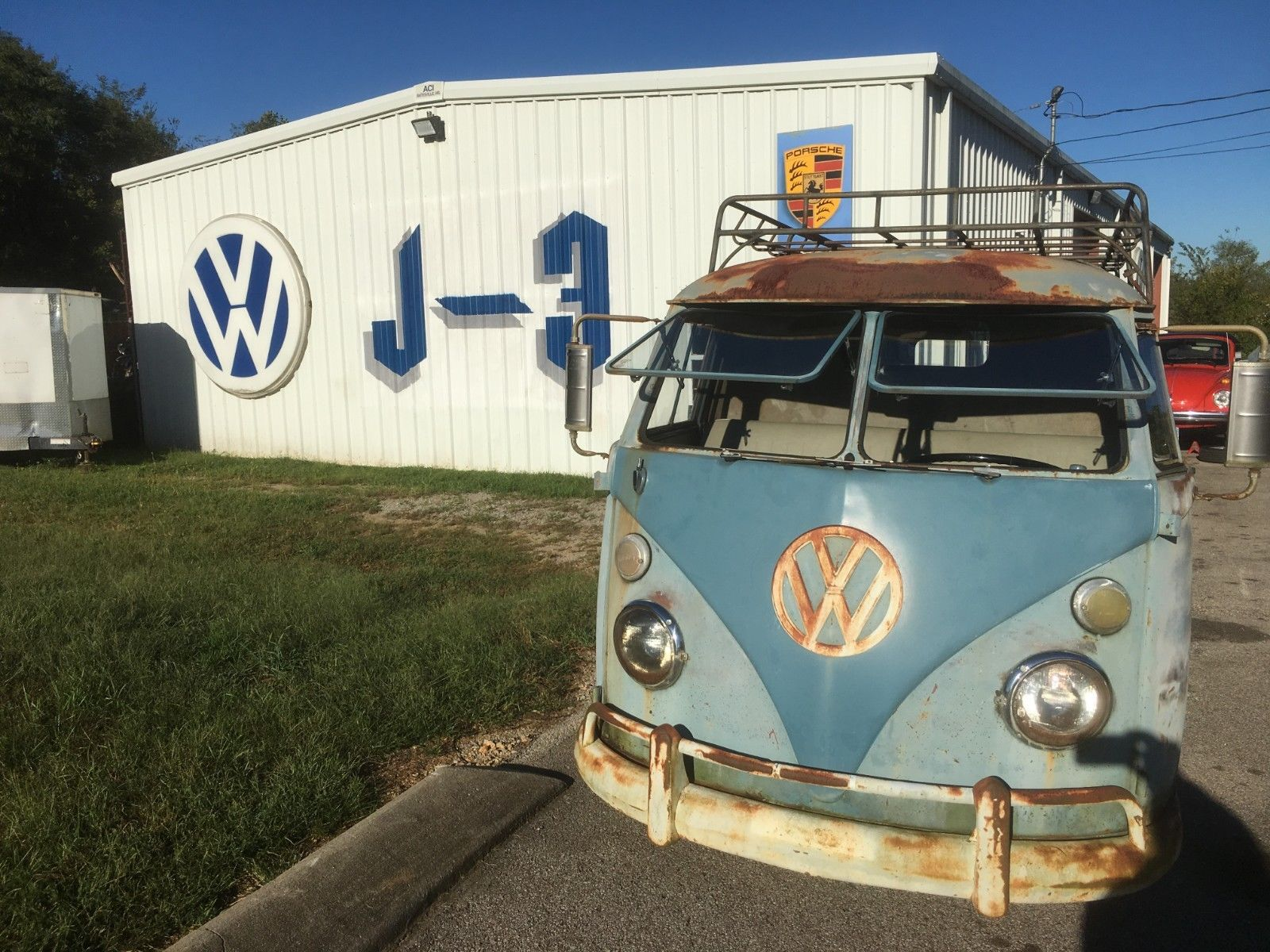 1962 Volkswagen Vanagon parked outside