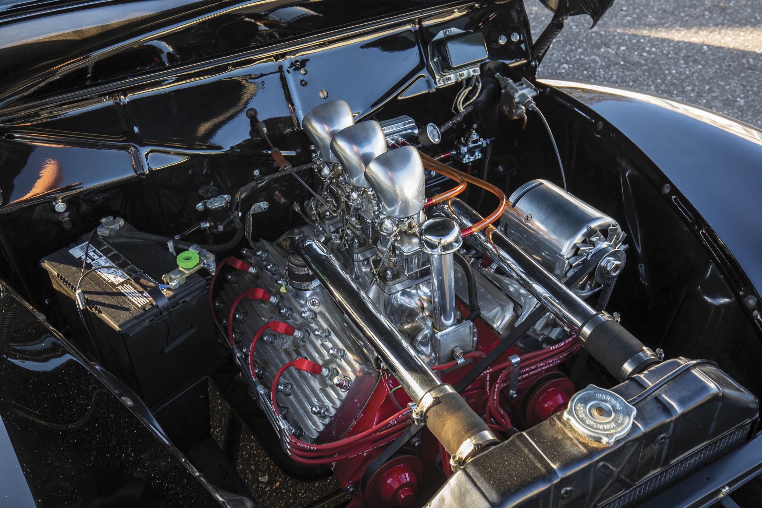 1940 Mercury Coupe Custom by Rudy Rodriguez engine