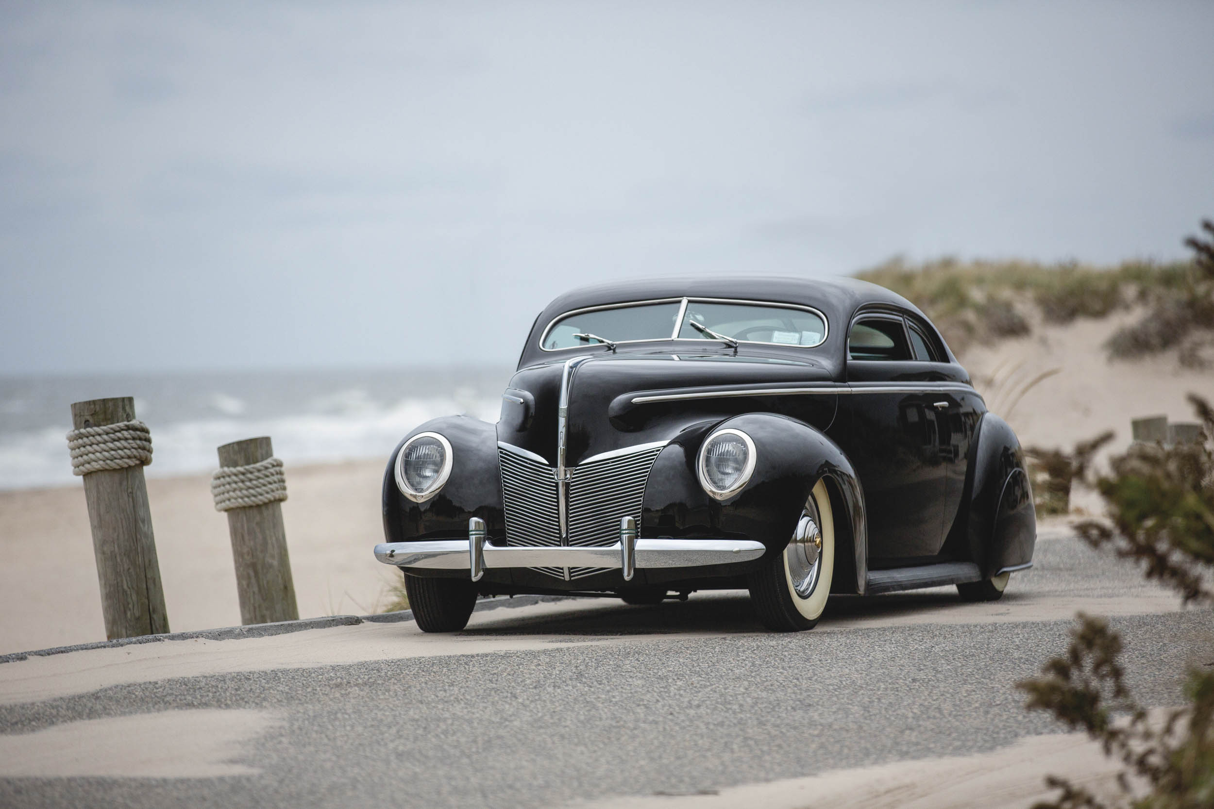 1940 Mercury Coupe Custom by Rudy Rodriguez front 3/4