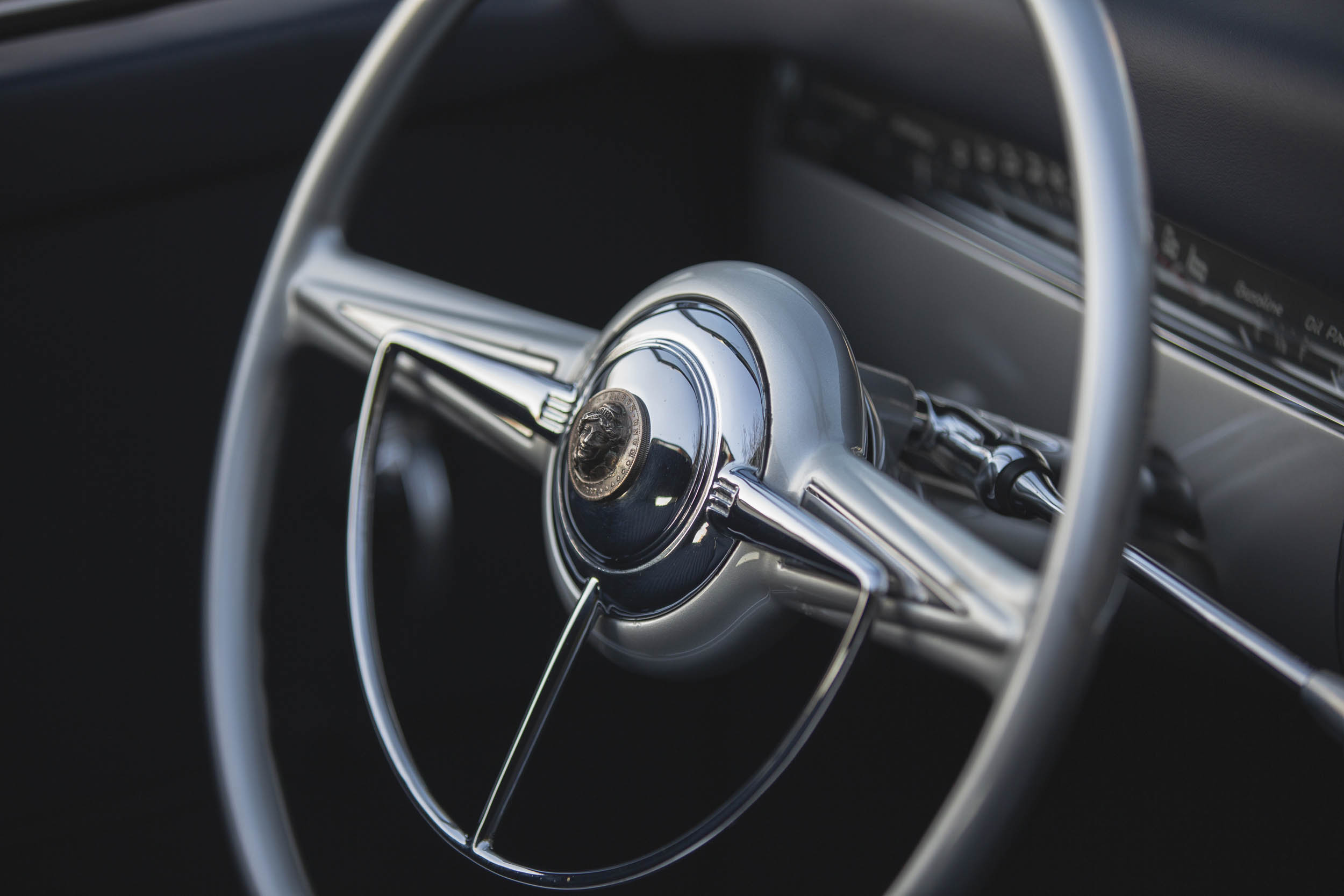 1941 Mercury Stengel Custom by Coachcraft steering wheel