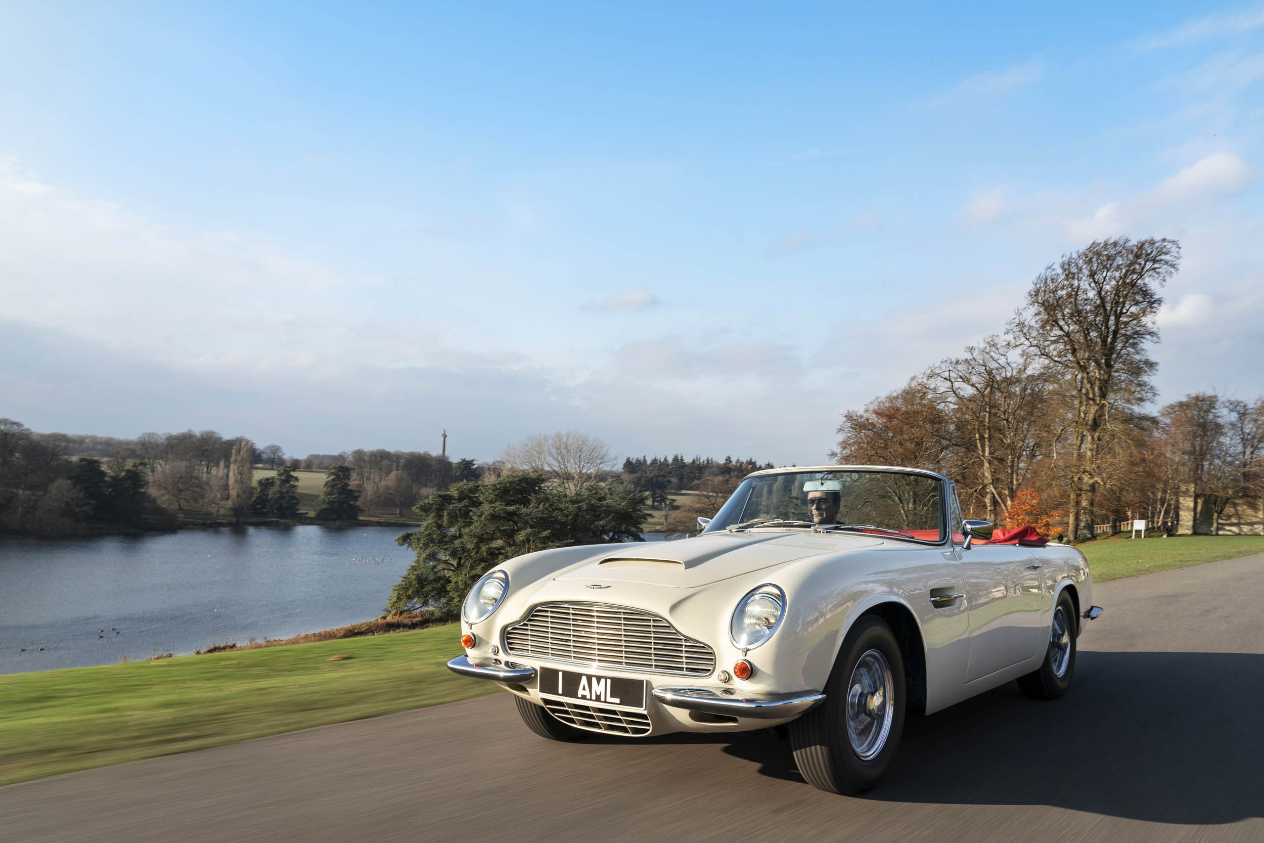 1970 DB6 MkII Volante driving front 3/4