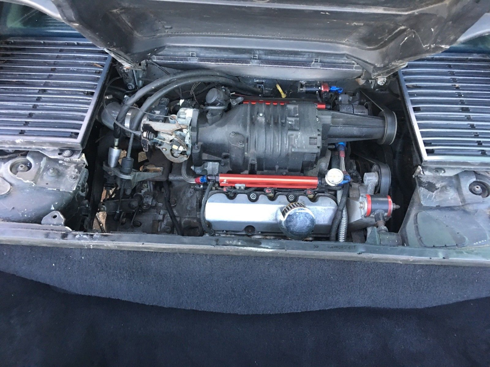 1986 Pontiac Fiero engine buick 3800 supercharger